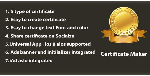 certificate maker universal admob iad by newiosgamers codecanyon