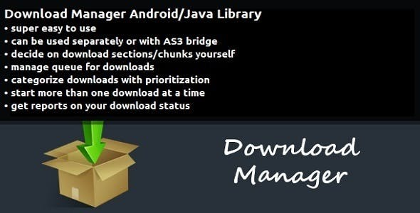 Download Manager Android/Java Library by VendoraStudio | CodeCanyon