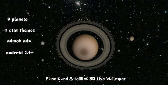 Planets And Satellites 3D Live Wallpaper By Electricpunch1