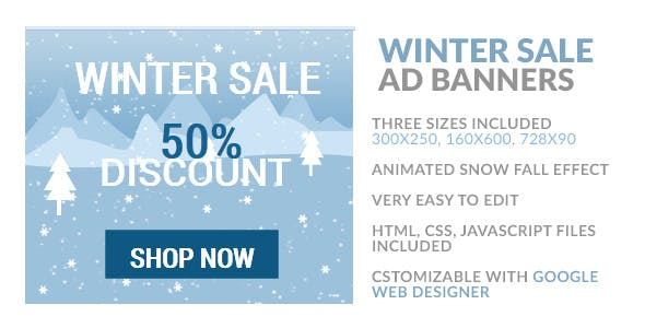 Winter Sale Banners Home Decor Banners
