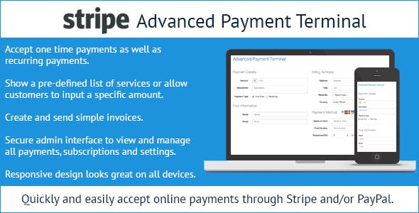 Stripe Advanced Payment Terminal by DevinLewis | CodeCanyon