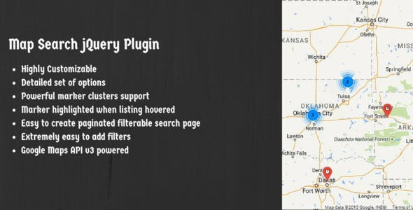 Map search plugins code scripts from codecanyon map search jquery plugin using google maps api v3 gumiabroncs Images