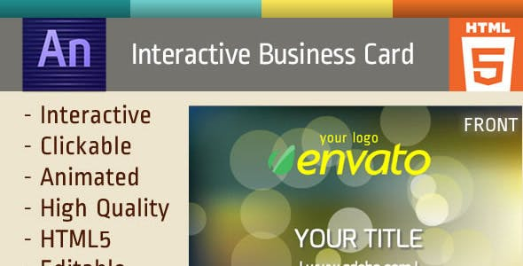animated business card by edge official codecanyon - Animated Business Cards