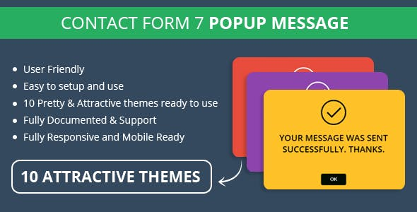 Contact Form 7 Popup Message By CodeTides