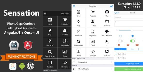 Make a onsen ui app with mobile app template from codecanyon sensation phonegap cordova full hybrid app maxwellsz