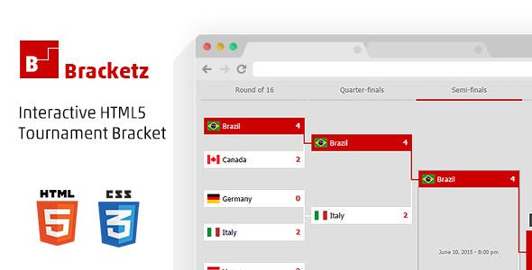 Bracketz Interactive HTML5 Tournament Bracket