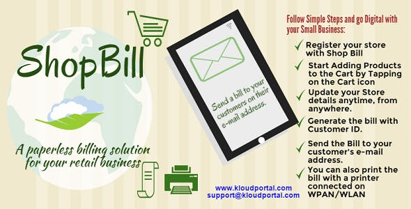Quick Bill - Store Billing Solution in your pocket by kolluru81