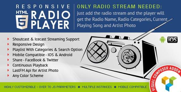 html5 radio player codecanyon live streaming