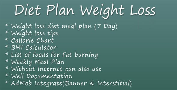 Diet Plan Weight Loss By Ayanslab Codecanyon