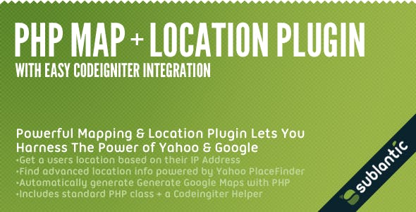 PHP Map + Location Plugin by sublantic | CodeCanyon