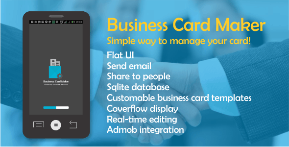 Make a business card maker app with mobile app template business card maker with admob flashek Image collections