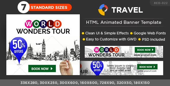 Travel Promotion Banners Crocus Banners