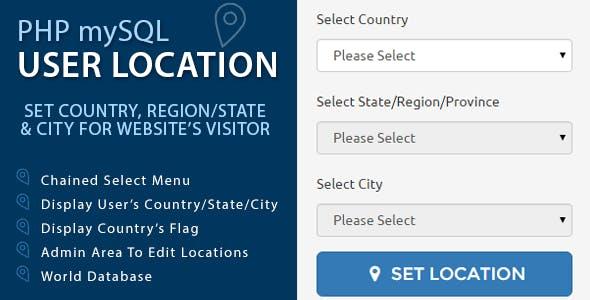 PHP mySQL User Location
