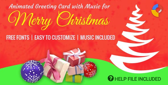 Musical greeting card plugins code scripts from codecanyon gwd animated musical merry christmas greeting m4hsunfo