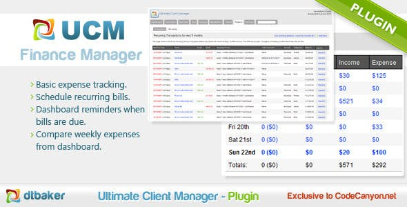 finance management by dtbaker codecanyon