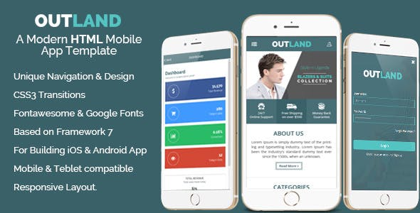 Outland Ios Android Mobile App Template By Hastech Codecanyon