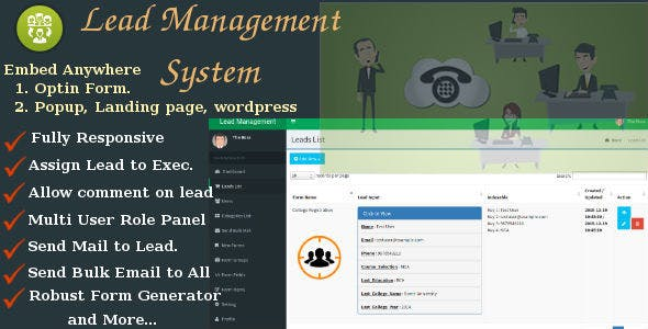 Lead management system  advance form builder Free Download | Envato