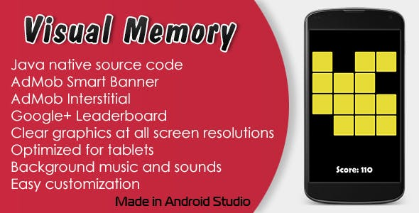 Visual Memory Game with AdMob and Leaderboard by OlDenWeb   CodeCanyon