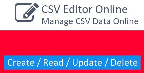 online CSV Editor - PHP CRUD