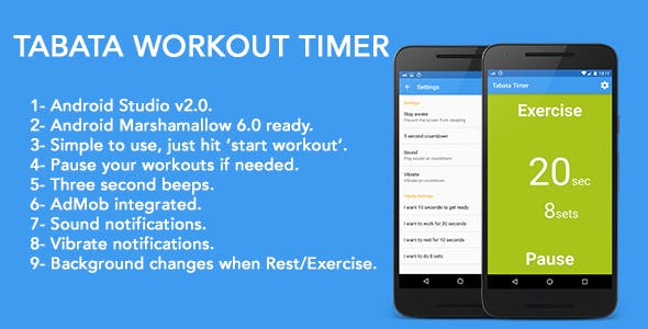 Tabata Workout Timer - For Weight Loss by yeyetiti38 | CodeCanyon