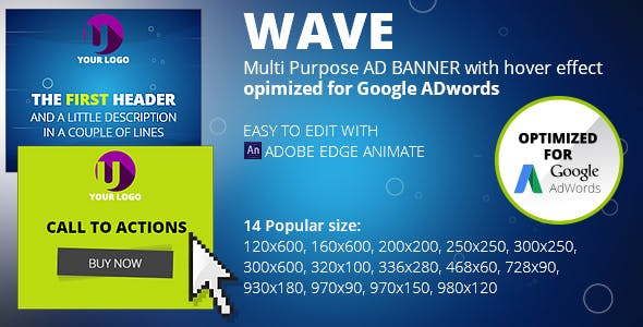 Html5 Animated Banner Templates Wave Banner By Html5 Bannerru