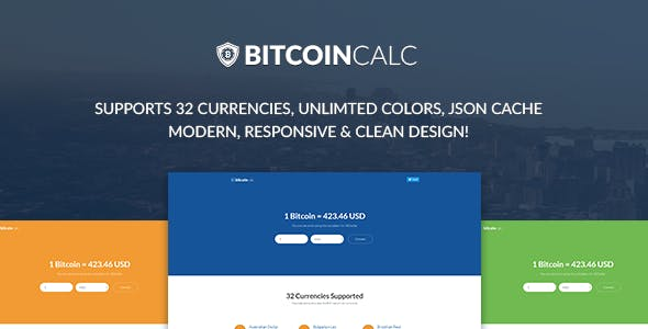 Bitcoin Calculator Supports 32 Currencies Codecanyon Item For