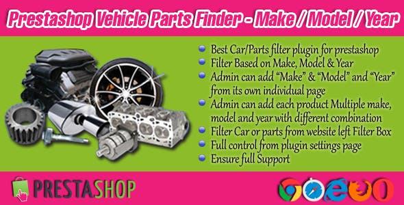Prestashop Vehicle Parts Finder - Make/Model/Year