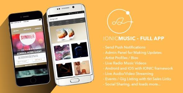 Ionic Music - Full Application by RockStar_Media | CodeCanyon