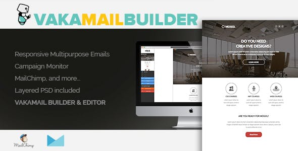 Email template builder plugins code scripts from codecanyon vakamail html email newsletter template builder editor maxwellsz