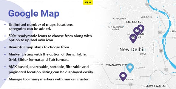 WP Advanced Google Maps by theemon | CodeCanyon