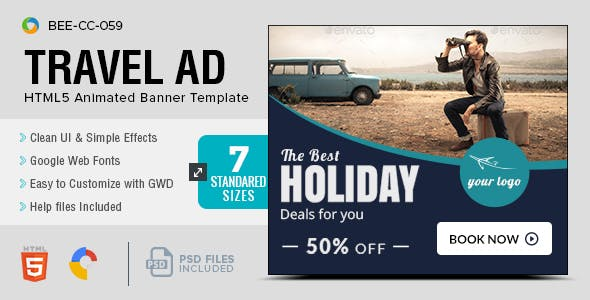 Travel Promotion Banners Kid Student Banners