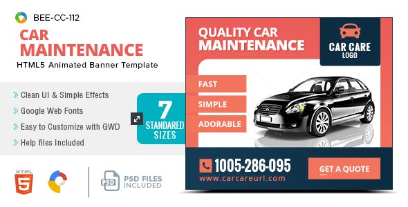 car and e commerce html5 ad templates from codecanyon