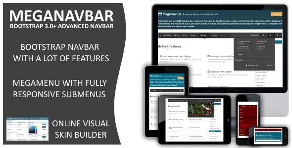 MegaNavbar (v 2.2.0). Advanced Mega Menu for Bootstrap 3.0+