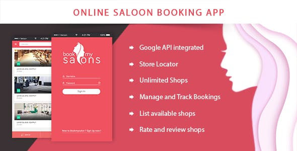 Online Beauty Salon or Spa Booking Solution - Book My Salon App by