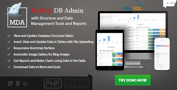 MySQL Database Admin and Reports - Manage Database and Data Made Easy with PHP