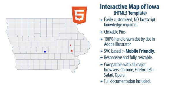 Ia State Map Plugins Code Script From Codecanyon