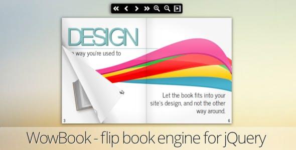 WowBook, a flipbook jQuery plugin