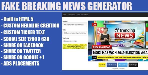 Fake Breaking News Headline Generator