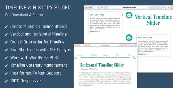 Timeline and History Slider - Vertical and Horizontal Responsive