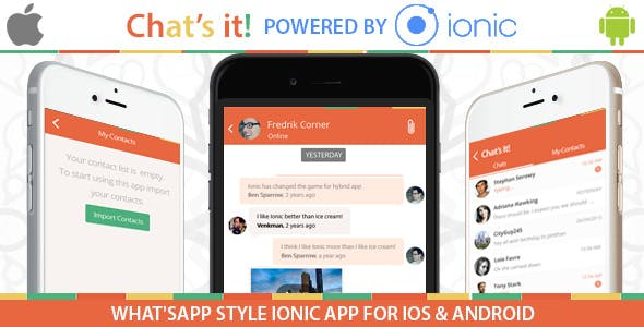What's App Chat Clone – An Ionic Framework ,Socket io and Nodejs