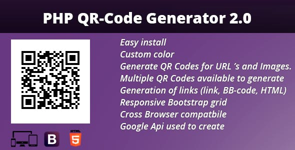 Php Qr Code Generator 20 By Foxsash Codecanyon