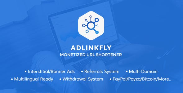 Adlinkfly v6.3.0 Latest Nulled [No License Warning, Fixed Whiten Page, Views Count Issue and No Admin Save Blank