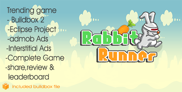 Rabbit Runner Complete game + Buildbox 2 file by skullcandybox