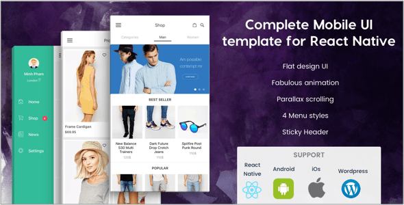 BeoStore - Complete Mobile UI template for React Native by