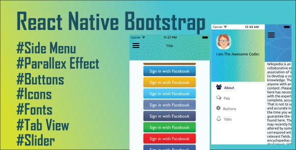 React Native Bootstrap by theawesomecoder | CodeCanyon