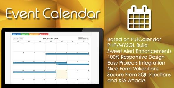 Event Calendar - PHP/MYSQL Plugin by EZCode   CodeCanyon