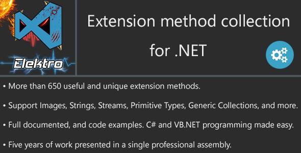 NET Huge Extension-methods Collection by ElektroStudios | CodeCanyon