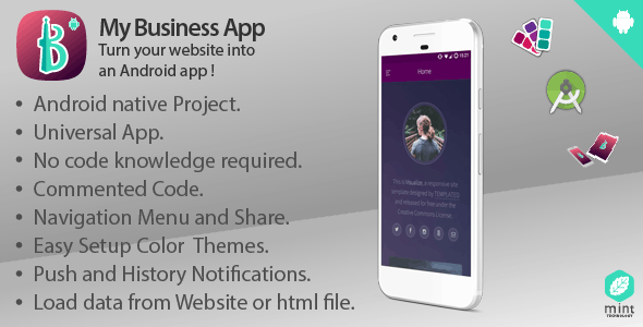 My Business Turn Your Website Into An Android Codecanyon Item For