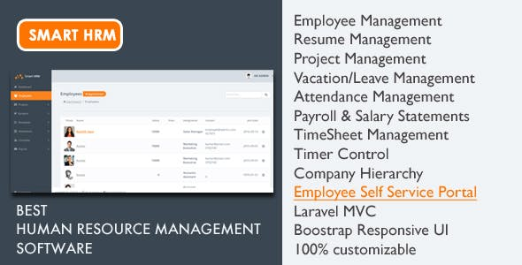 smart hrm hr software with project management payroll attendance