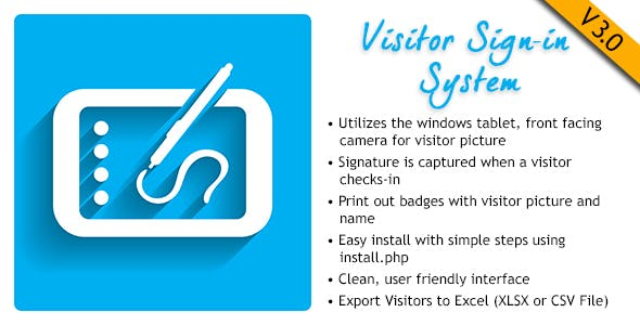 visitor signin system by greytech codecanyon
